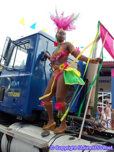 Carnival Dancer on the truck
