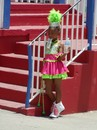 Young Twirler after finishing the Parade