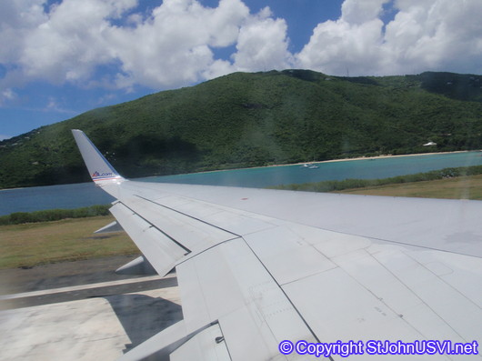 taking off from St. Thomas