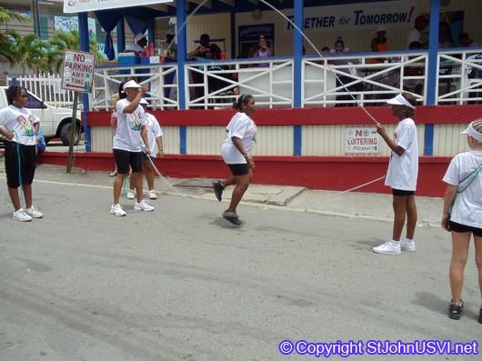 Jump Rope Team Performing
