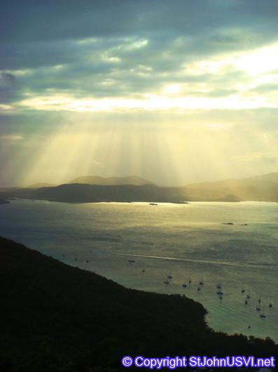 Sun Rays over St Thomas