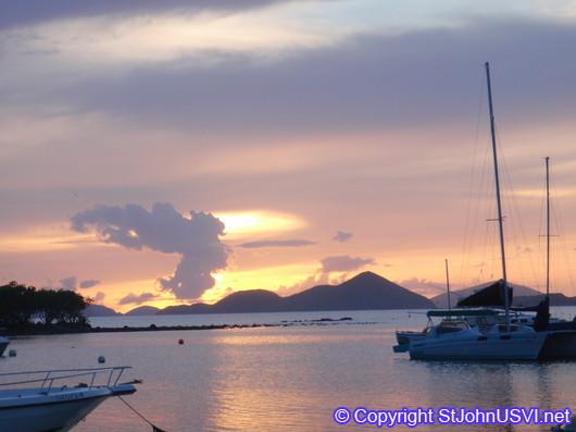 Sunset at Cruz Bay