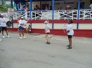 Performing Jump Rope in front of Woody's