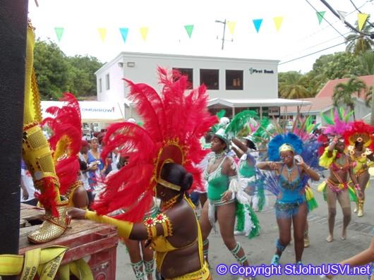Members following and dancing