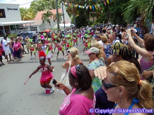 Twirlers performing