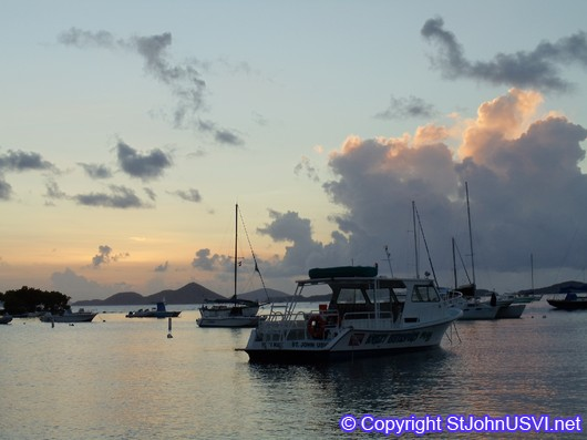 Cruz Bay Sunset, July 2010