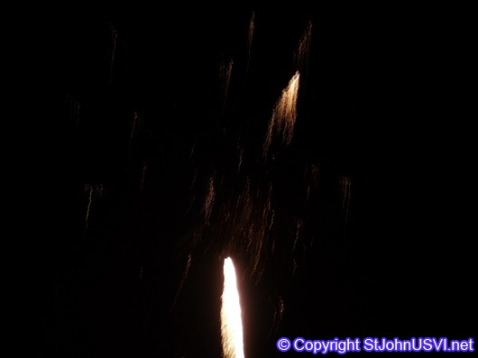 Fireworks Taking Off in the Night Sky