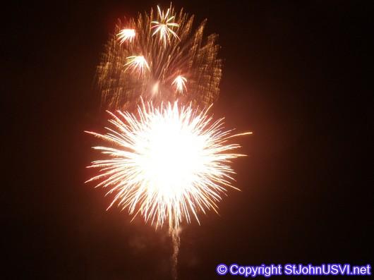 Beautiful Golden Fireworks for Carnival Celebration