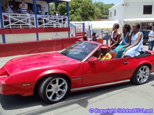 Camero driving in Carnival Parade