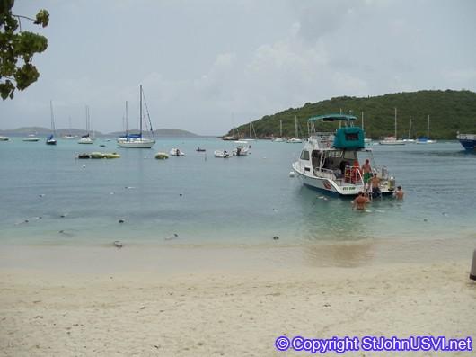 Cruz Bay Scuba tanks floating