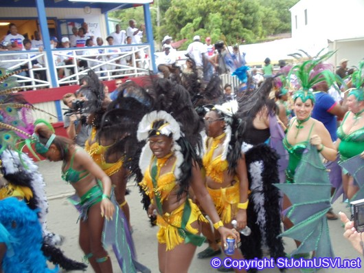 Women in Birds of Paradise Costume 2010