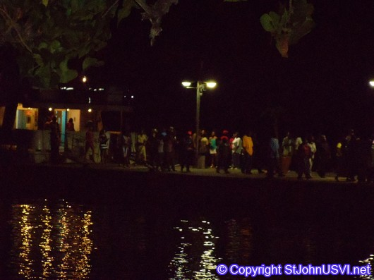 Carnival ferry arrivals on St John 2010