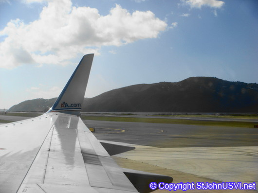 From the runway in St Thomas