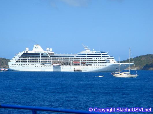 Cruise Ship in St John