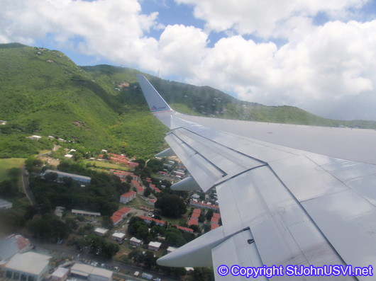 Flying over St Thomas