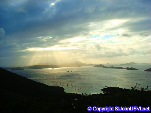 Sun Rays over St Thomas