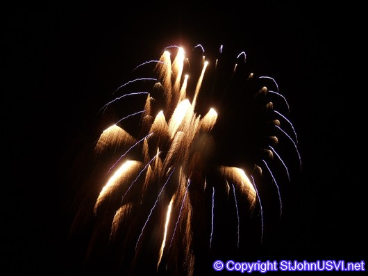 Gold and Blue Firework