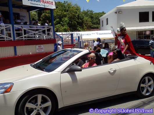 Carnival Queen in Carnival Parade