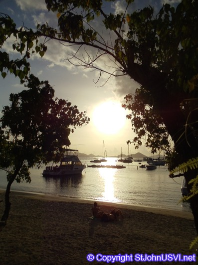 Beautiful Sunset at Cruz Bay