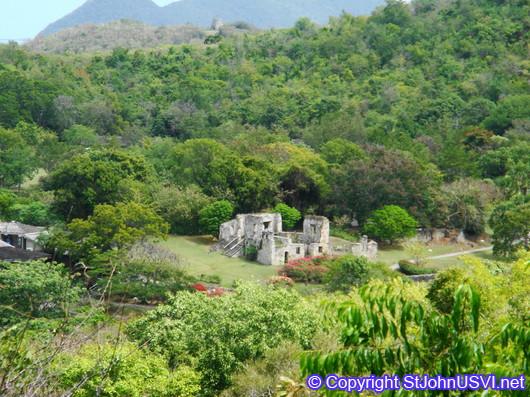 Sugar Mill Ruins at Caneel Bay, part of Virgin Islands National Park