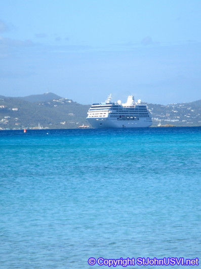 Cruise Ship in St John