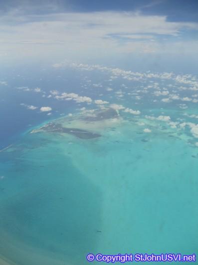 Flying over Bermuda Islands