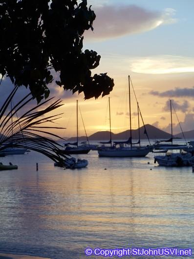 Sunset over Cruz Bay