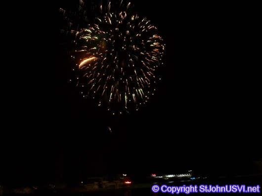 Fireworks over Cruz Bay