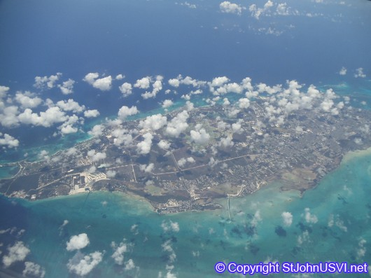Flying over Bermuda Islands
