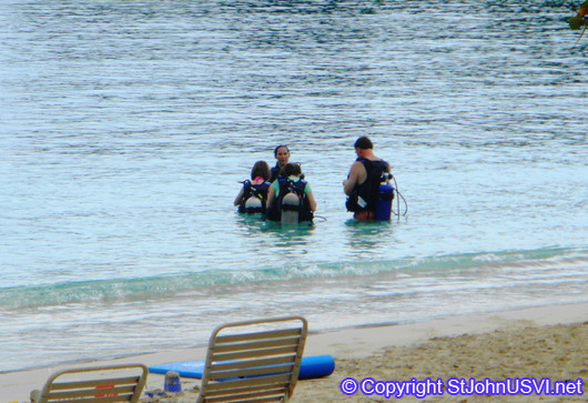 Scuba Lesson at Caneel Bay
