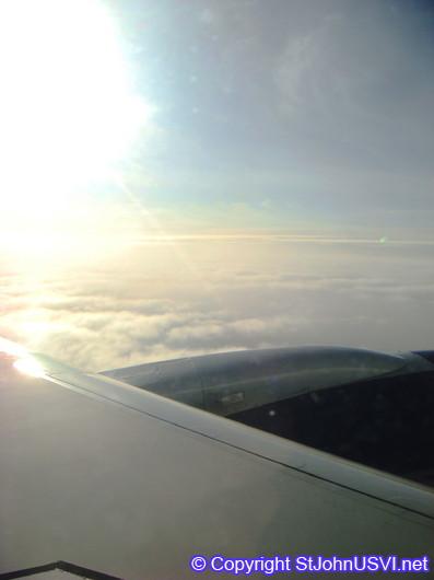 Flying to St.Thomas