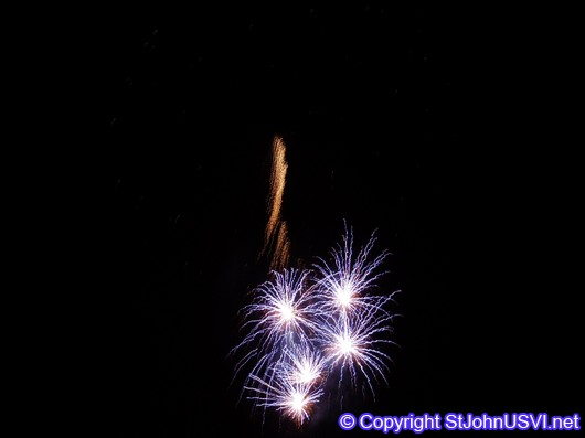 5 Blue Fireworks