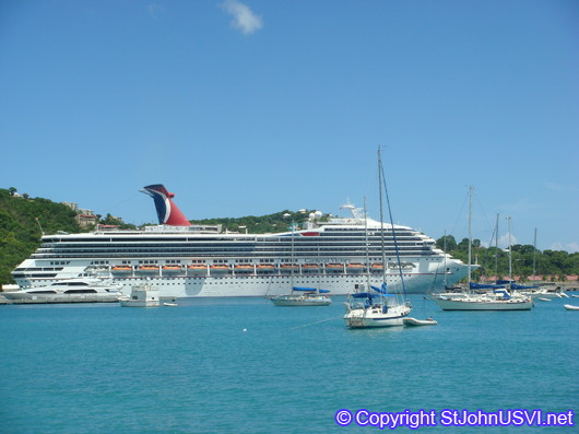 Cruise ship in St Thomas