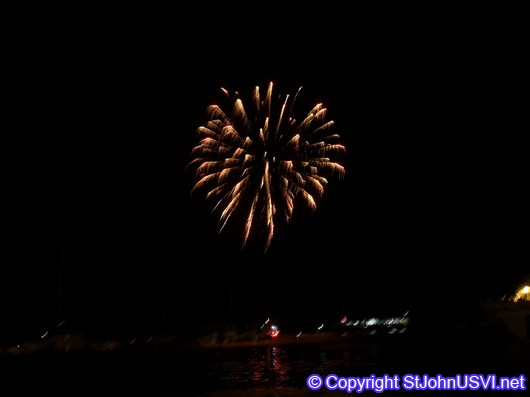 Firework over Cruz Bay