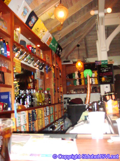 Behind the Tap Room bar, home of St John Brewers