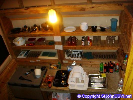 Eco-tent kitchen