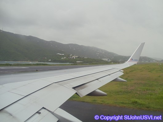 Take off from St. Thomas Airport