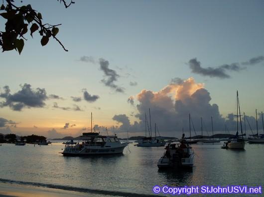 Cruz Bay Sunset in July 2010