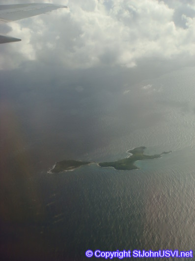 Flying over Caribbean