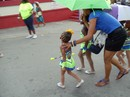 Young member in majorette group
